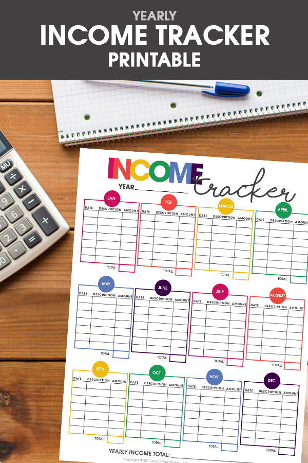free printable income tracker | financial organizer | money tracker | get life organized