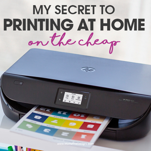 The Secret to Printing at Home On the Cheap