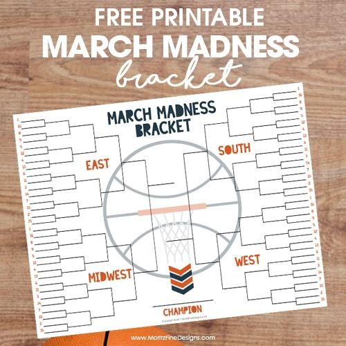 NCAA Free Printable Tournament Bracket