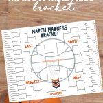 NCAA basketball tournament bracket   March Madness   free printable   free printable tourney bracket