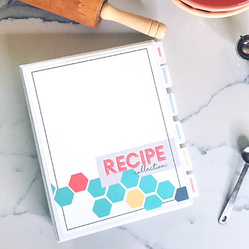 DIY Customizable Recipe Cookbook | Recipe Binder Printable | organize recipes | instant download | free printable