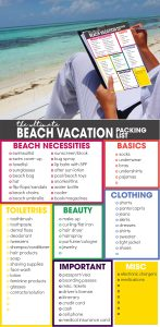 beach vacation packing list   spring break packing list   free printable   what to pack for vacation