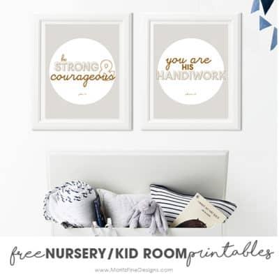 Adorable Nursery & Kid Room Printables