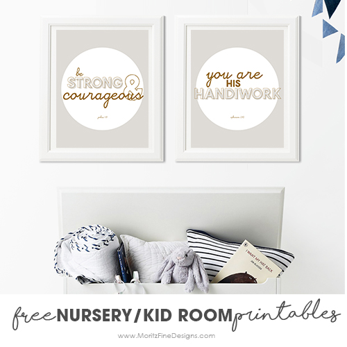 Adorable Nursery & Kid Room Printables