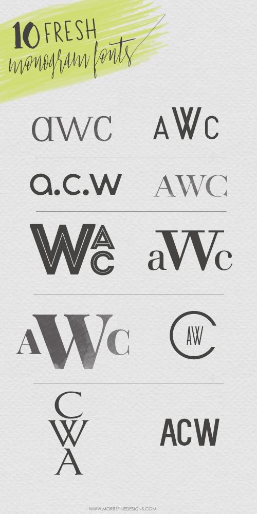 monogram fonts | free fonts | best ever fonts for crafting monograms