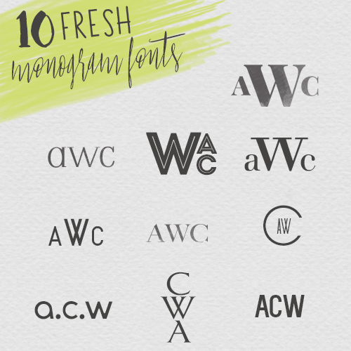 Fresh New Monogram Fonts