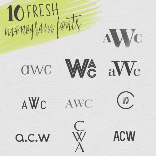 Fresh New Monogram Fonts