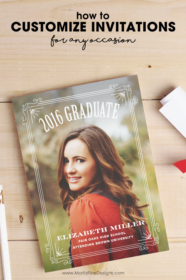 customize invitations | create photo cards for any occasion | wedding, shower, birthday, graduation custom invitations | DIY stationery