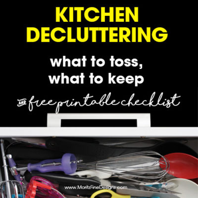 kitchen declutter checklist | free printable | how to organize your kitchen | spring cleaning