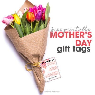 Mother's Day Gift Tag Printable for Any Gift