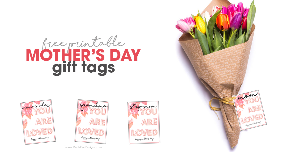 picture relating to Free Printable Mothers Day Tags called Moms Working day Present Tag Printable for Any Present Free of charge Printable
