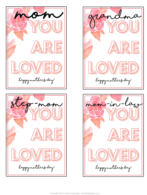 Mother's Day Gift Tag | free printable | mother's day printable card for flowers or any gift | gift for mom, grandma, mother-in-law or step-mom