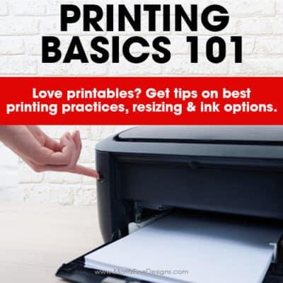 Printing Basics 101 | Printable FAQs