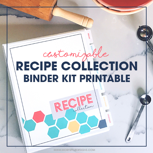 DIY Printable Recipe Binder Kit