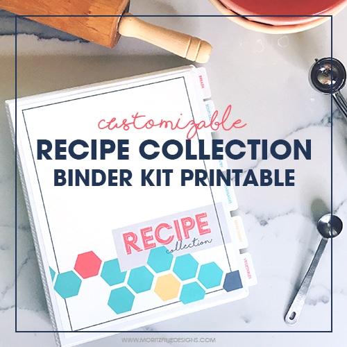DIY Printable Recipe Binder Kit