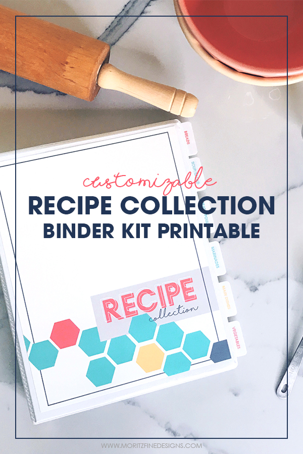 Diy printable recipe binder kit free printables included for Homemade cookbooks template
