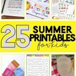 kid summer printables | free summer activities | free printables | fun things for kids to do