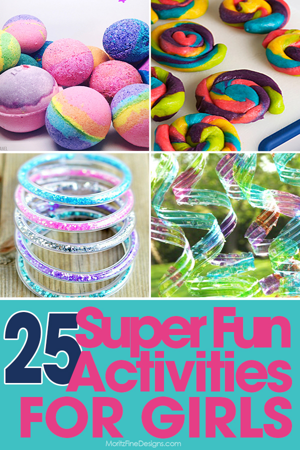 Keep the girls (and the boys!) busy with all of these super fun Summer Activities for girls of all ages..