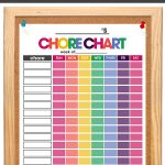 chore charts for kids | organize your life | teaching kid's responsibility | free printable