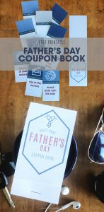 father's day coupon book | free printable | last-minute father's day gift | quick and easy gift for dad