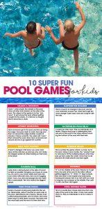 pool games for kids | summer fun | free printable | swimming pool activities