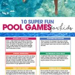 pool games for kids   summer fun   free printable   swimming pool activities