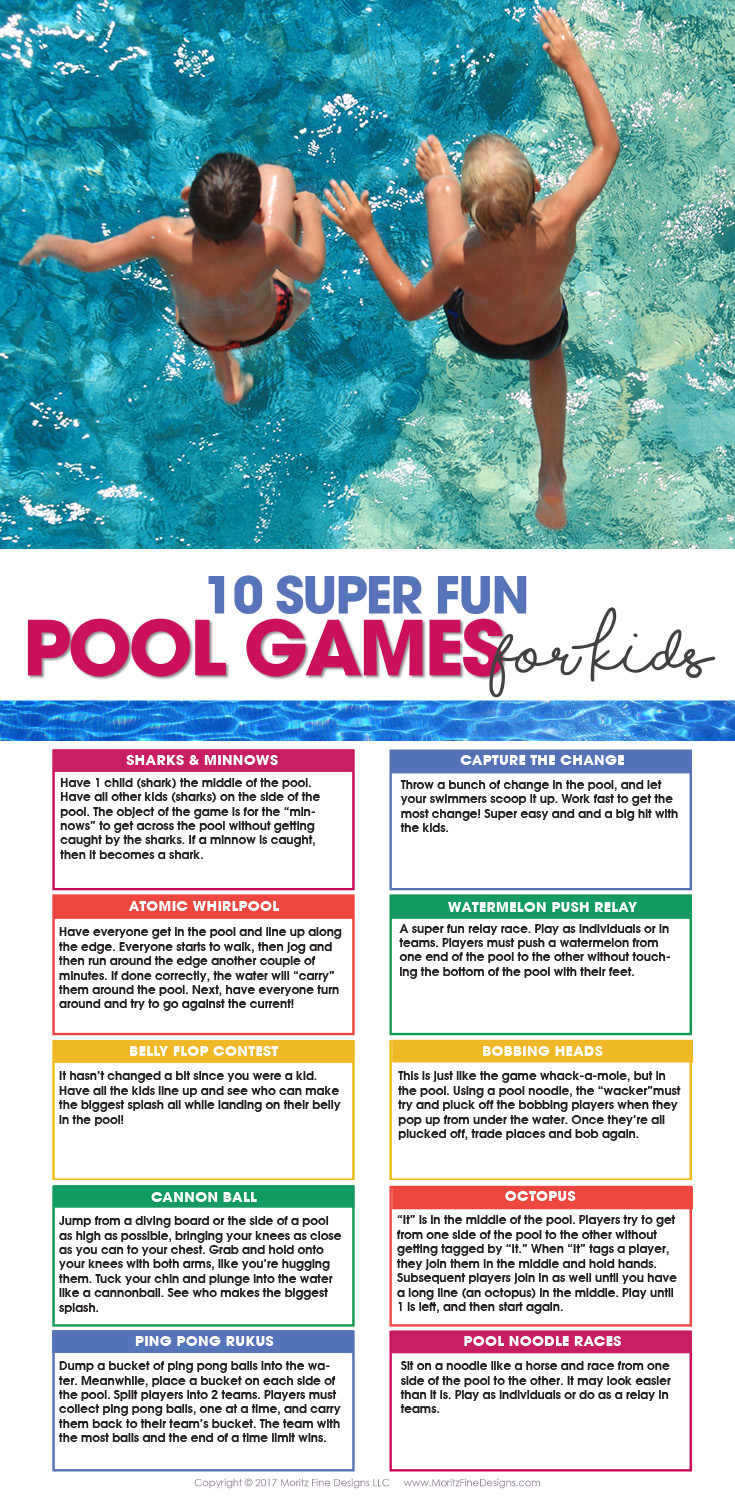 10 Pool Games For Kids Free Printable Moritz Fine Designs