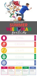 summer schedule | weekly plan for kids | free printable | organize your life