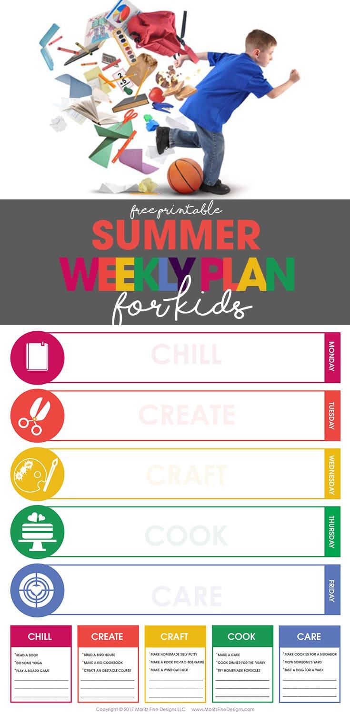 Summer Weekly Plan for Kids | Free Printable Schedule