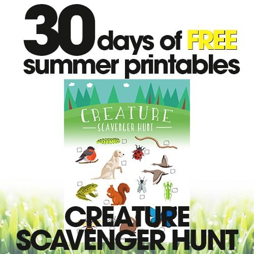 Summer Scavenger Hunt | Free Summer Printables Day #10