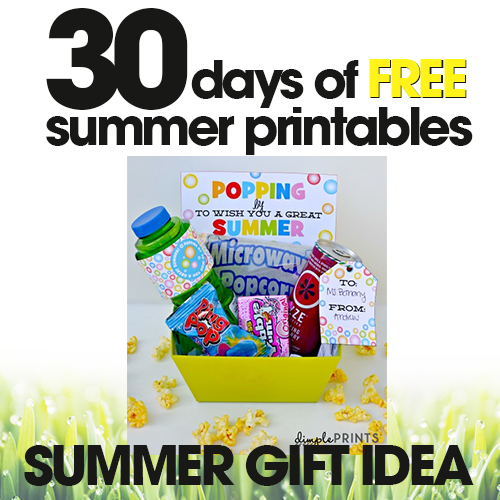 Summer Gift Idea | Free Summer Printable Day #16
