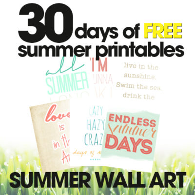 free summer printables | summer wall art | decorate for summer on the cheap | free printables