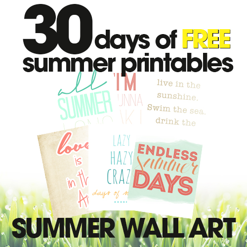 Summer Wall Art | Free Summer Printables Day #18