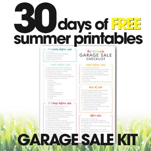 Garage Sale Kit | Free Summer Printables Day #2