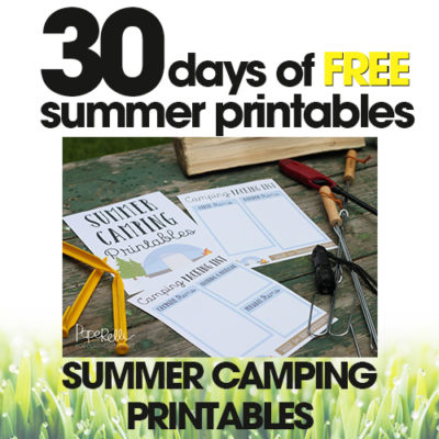 Summer Camping Printables | Free Summer Printable Day #20
