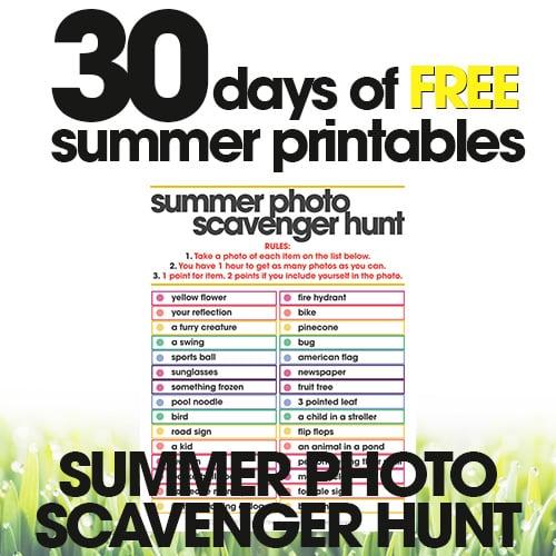 Summer Photo Scavenger Hunt | Free Summer Printables Day #21
