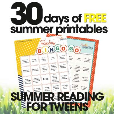 Summer Reading for Tweens | Free Summer Printable Day #23