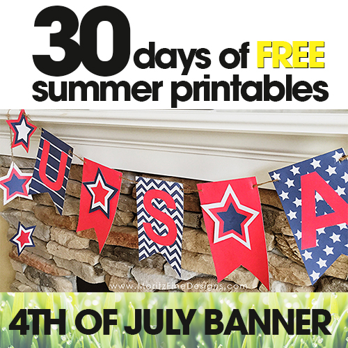 4th of July Banner | Free Summer Printable Day #24