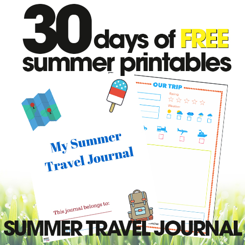free summer printables | summer travel journal | road trip activities for kids | free printable