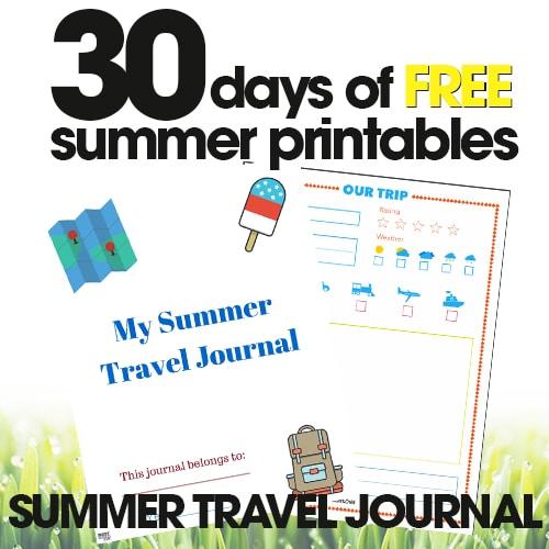 Summer Travel Journal | Free Summer Printable Day #26