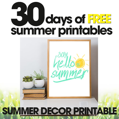 Summer Decor Printable | Free Summer Printables Day #28