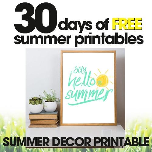 Summer Decor Printable | Free Summer Printables Day #28