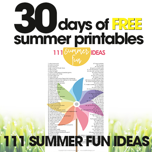 Fun Kid Summer Activities | Free Summer Printables Day #29