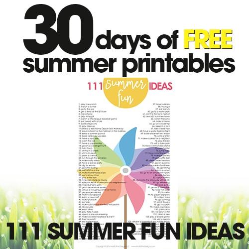 Fun Kid Summer Activities | Free Summer Printables Day #29