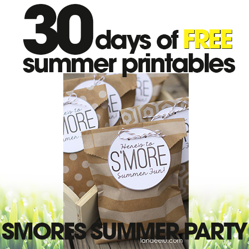 S'mores Summer Party | Free Summer Printable Day #30