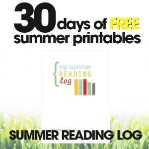 free summer printables | summer reading log | kid's reading tracker | free printable