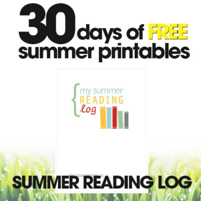 Summer Reading Log | Free Summer Printables Day #5