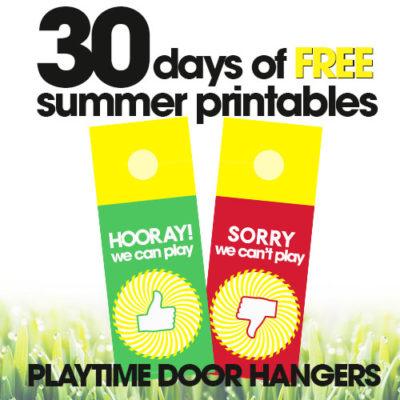Platytime Door Hanger | Free Summer Printables Day #6
