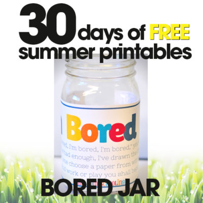 Bored Jar | Free Summer Printable Day #7