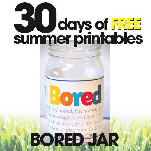Bored Jar | Free Summer Printable Day #7